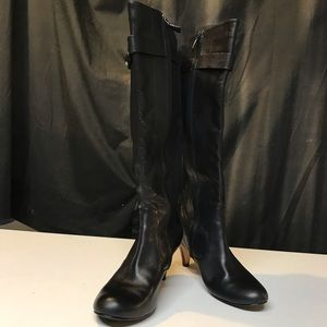 Cole Haan smooth and suede leather boots size 9